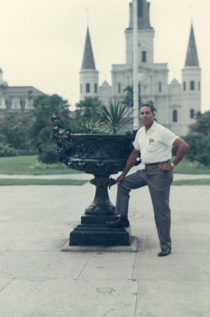 My grandfather, Frank Dixon Bowers, III in Jackson Square, New Orleans. Circa 1970s.
