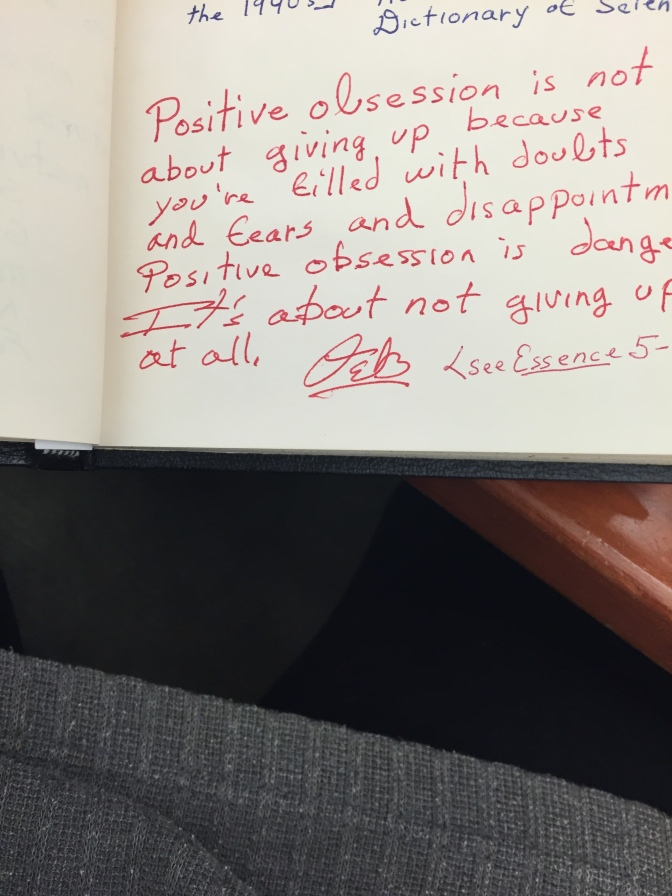 Page from a commonplace book: from Octavia E. Butler Papers, from The Huntington Library